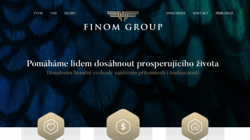 Web Finom Group od Strategonu